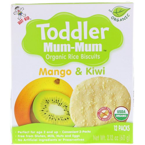 Hot Kid, Toddler Mum-Mum, Organic Rice Biscuits, Mango & Kiwi, 12 Packs, 2.12 oz (60 g) Review