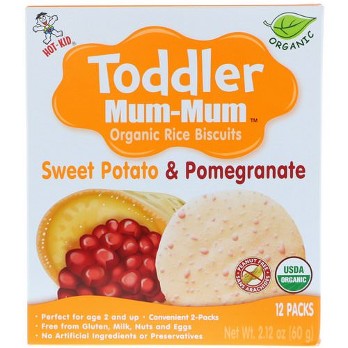 Hot Kid, Toddler Mum-Mum, Organic Rice Biscuits, Sweet Potato & Pomegranate, 12 Packs, 2.12 oz (60 g) Review