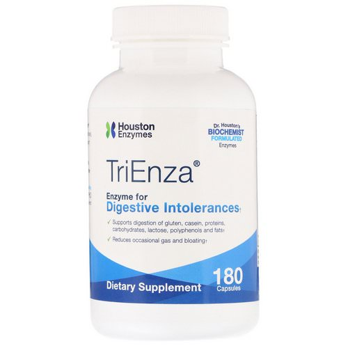 Houston Enzymes, TriEnza, Enzyme For Digestive Intolerances, 180 Capsules Review
