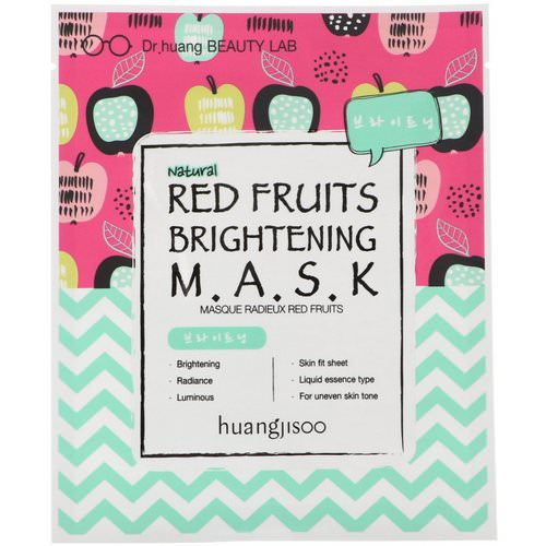 Huangjisoo, Red Fruits Brightening Mask, 1 Sheet Mask Review
