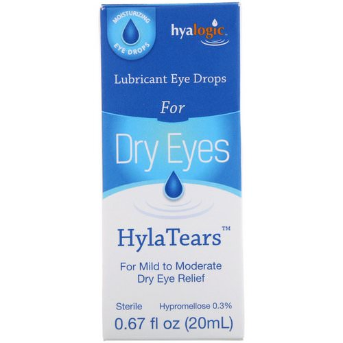 Hyalogic, HylaTears, Lubricant Eye Drops for Dry Eyes, 0.67 fl oz (20 ml) Review