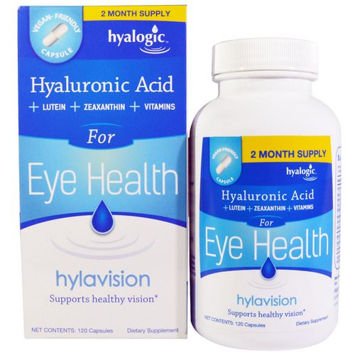 Hyalogic, Hylavision, Hyaluronic Acid, 120 Capsules Review