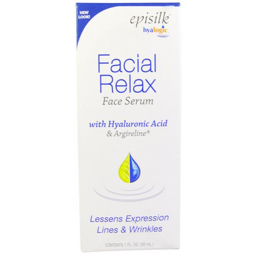 Hyalogic, Episilk, Facial Relax Face Serum, 1 fl oz (30 ml) Review