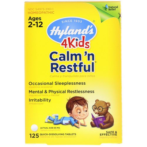 Hyland's, 4 Kids, Calm' n Restful, Ages 2-12, 125 Quick-Dissolving Tablets Review