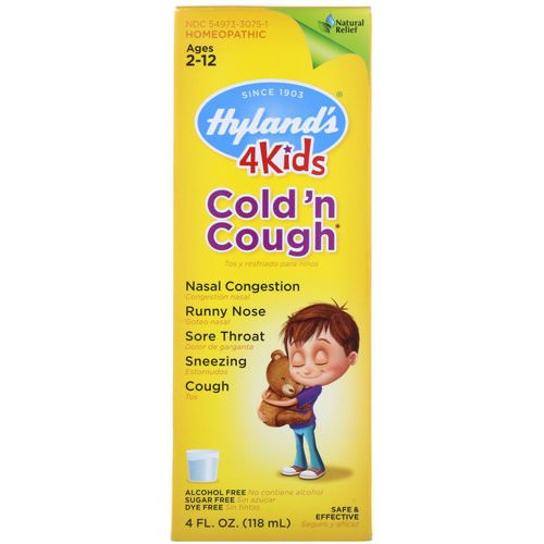 Hyland's, 4 Kids Cold 'n Cough, Ages 2-12, 4 fl oz (118 ml) Review