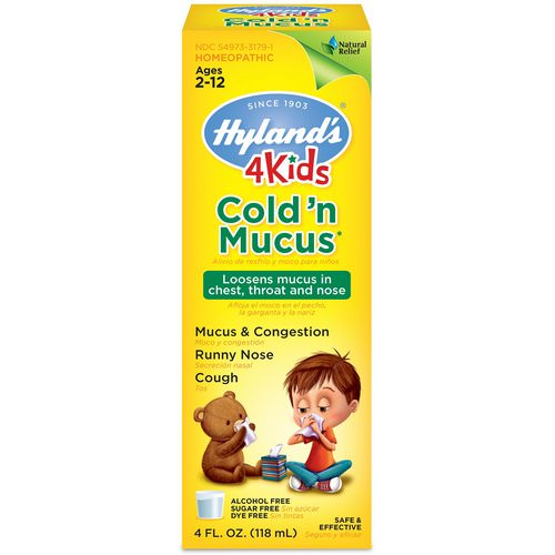 Hyland's, 4 Kids, Cold 'n Mucus, Ages 2-12, 4 fl oz (118 ml) Review