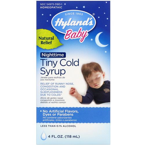Hyland's, Baby, Nighttime Tiny Cold Syrup, 4 fl oz (118 ml) Review