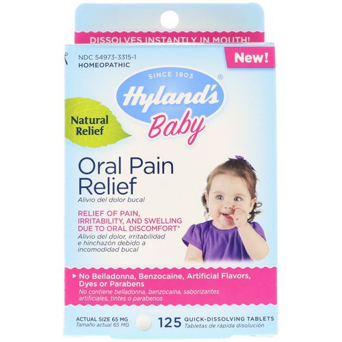 Hyland's, Baby, Oral Pain Relief, 125 Quick-Dissolving Tablets Review
