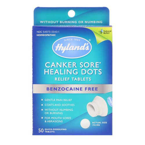 Hyland's, Canker Sore Healing Dots Relief Tablets, 50 Quick-Dissolving Tablets Review