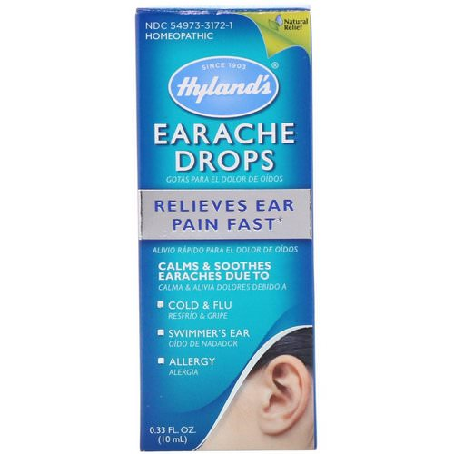 Hyland's, Earache Drops, 0.33 fl oz (10 ml) Review