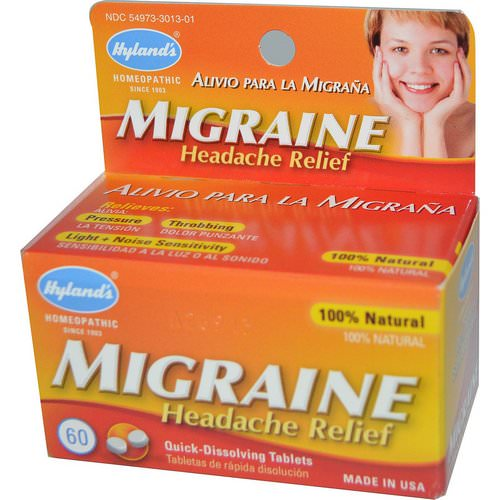 Hyland's, Migraine Headache Relief, 60 Tablets Review