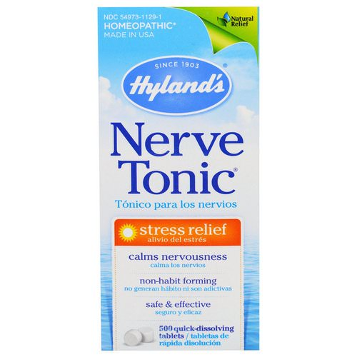 Hyland's, Nerve Tonic, 500 Tablets Review