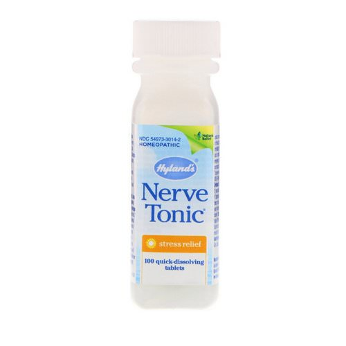 Hyland's, Nerve Tonic, Stress Relief, 100 Quick-Dissolving Tablets Review