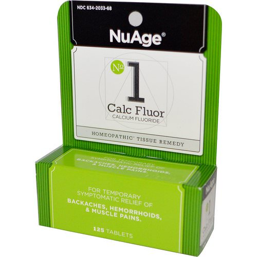 Hyland's, NuAge, No 1 Calc Fluor (Calcium Fluoride), 125 Tablets Review