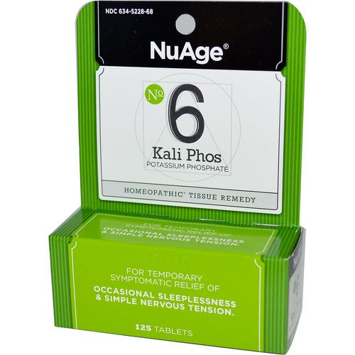 Hyland's, NuAge, No 6 Kali Phos, Potassium Phosphate, 125 Tablets Review