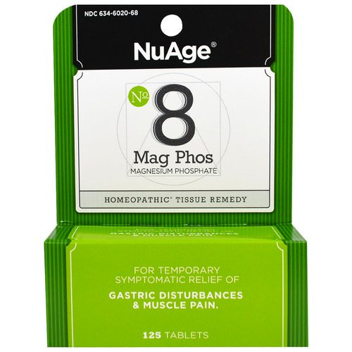 Hyland's, NuAge, No 8 Mag Phos, Magnesium Phosphate, 125 Tablets Review