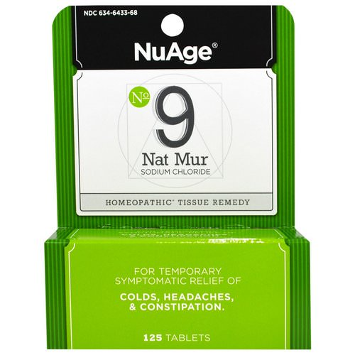 Hyland's, NuAge, No 9 Nat Mur, 125 Tablets Review