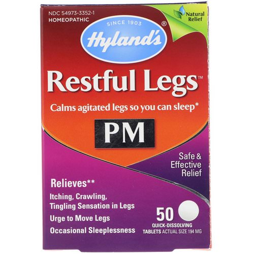 Hyland's, Restful Legs PM, 50 Quick-Dissolving Tablets Review