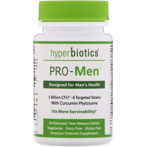 Hyperbiotics, PRO-Men, 5 Billion CFU, 30 Time-Release Tablets Review