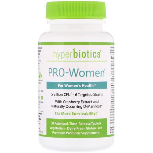 Hyperbiotics, PRO-Women, 5 Billion CFU, 60 Time-Release Tablets Review