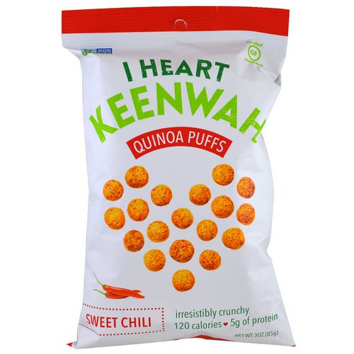 I Heart Keenwah, Quinoa Puffs, Sweet Chili, 3 oz (85 g) Review