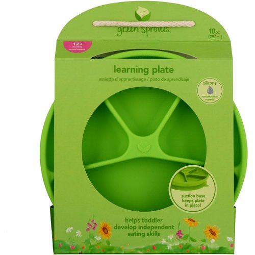 i play Inc, Green Sprouts, Learning Plate, Green, 12+ Months, 1 Plate, 10 oz (296 ml) Review