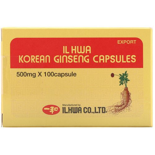 Ilhwa, Korean Ginseng Capsules, 500 mg, 100 Capsules Review