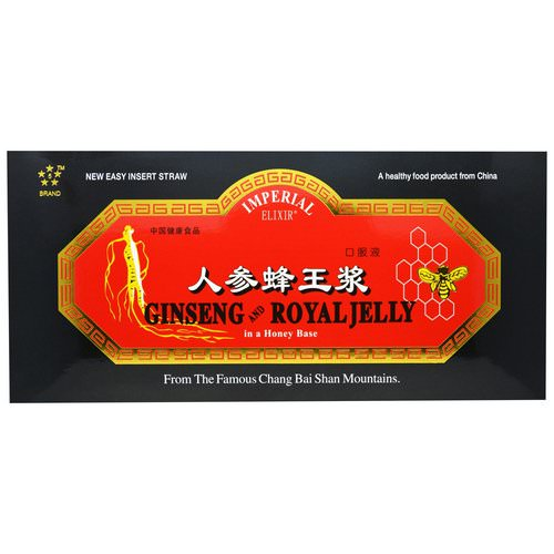 Imperial Elixir, Ginseng and Royal Jelly, 30 Bottles, 0.34 fl oz (10 ml) Each Review