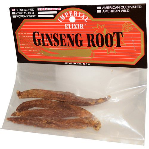 Imperial Elixir, Ginseng Root, Chinese Red Shiu Chu Xu, 1 oz Review