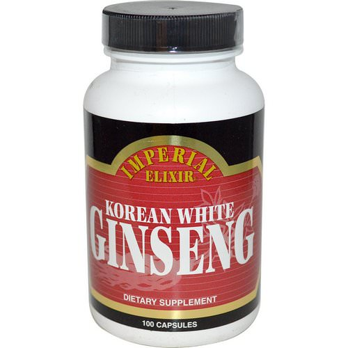Imperial Elixir, Korean White Ginseng, 100 Capsules Review