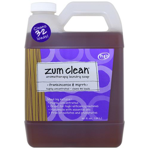 Indigo Wild, Zum Clean, Aromatherapy Laundry Soap, Frankincense & Myrrh, 32 fl oz (.94 l) Review