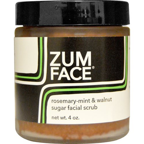 Indigo Wild, Zum Face, Rosemary-Mint & Walnut Sugar Facial Scrub, 4 oz Review