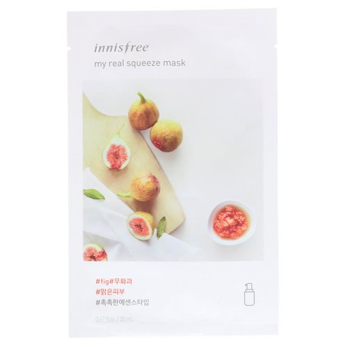 Innisfree, My Real Squeeze Mask, Fig, 1 Sheet Review
