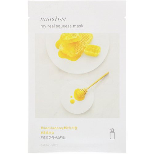 Innisfree, My Real Squeeze Mask, Manuka Honey, 1 Sheet, 0.67 fl oz (20 ml) Review