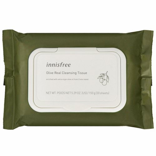 Innisfree, Olive Real Cleansing Tissue, 30 Sheets Review