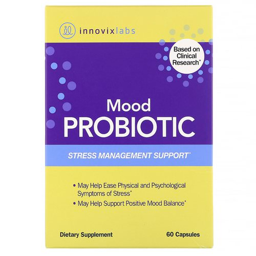InnovixLabs, Mood Probiotic, Stress Management Support, 60 Capsules Review