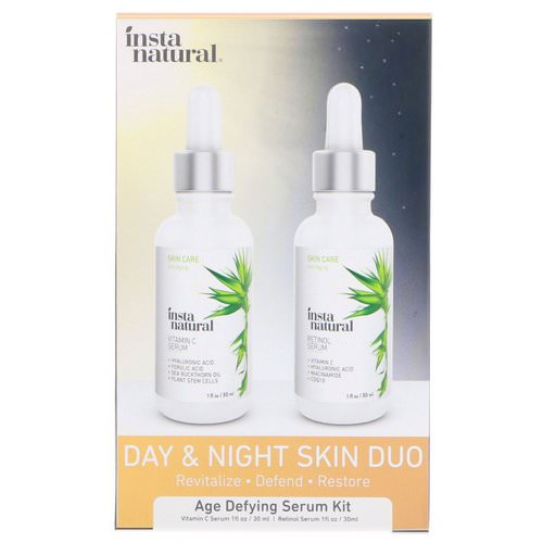 InstaNatural, Day & Night Skin Duo, Age Defying Serum Kit, 2 Bottles, 1 oz (30 ml) Each Review