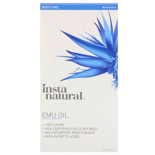 InstaNatural, Emu Oil, Body Care, Moisturizers, 4 fl oz (120 ml) Review