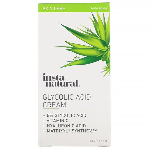 InstaNatural, Glycolic Acid Cream, 1.7 fl oz (50 ml) Review