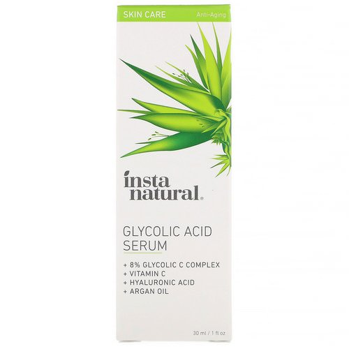 InstaNatural, Glycolic Acid Serum, Anti-Aging, 1 fl oz (30 ml) Review