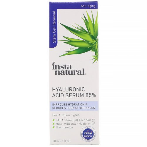 InstaNatural, Hyaluronic Acid Serum 85%, Anti-Aging, 1 fl oz (30 ml) Review