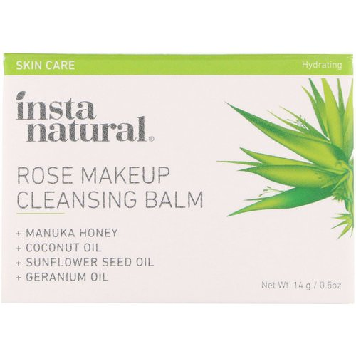 InstaNatural, Rose Makeup Cleansing Balm, Hydrating, 0.5 oz (14 g) Review
