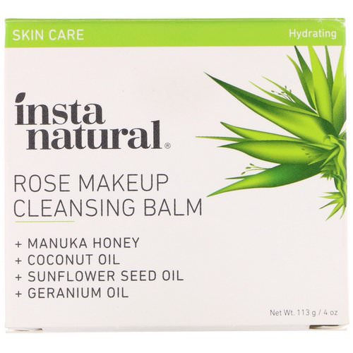 InstaNatural, Rose Makeup Cleansing Balm, Hydrating, 4 oz (113 g) Review