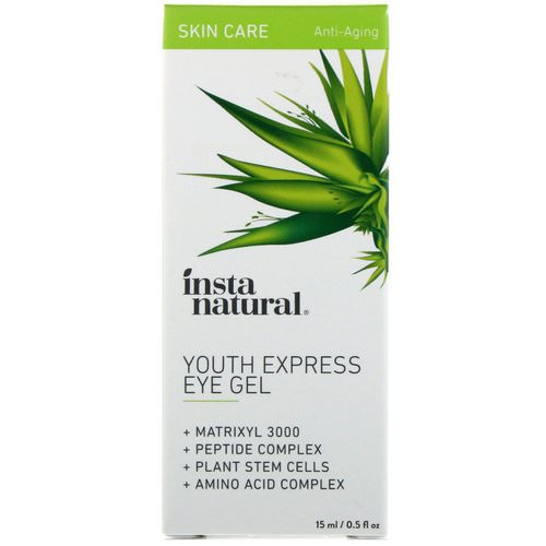 InstaNatural, Youth Express Eye Gel, Anti-Aging, 0.5 fl oz (15 ml) Review