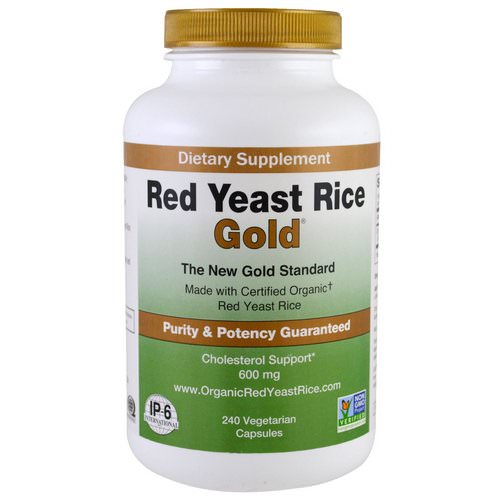 IP-6 International, Red Yeast Rice, Gold, 600 mg, 240 Vegetarian Capsules Review