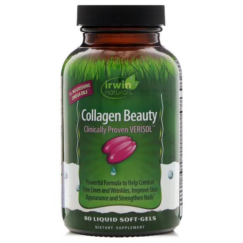 Irwin Naturals, Collagen Beauty, Clinically Proven Verisol, 80 Liquid Soft-Gels Review