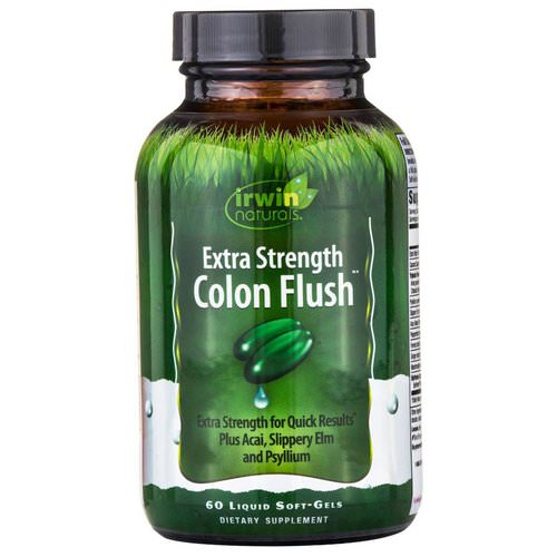 Irwin Naturals, Colon Flush, Extra Strength, 60 Liquid Soft-Gels Review