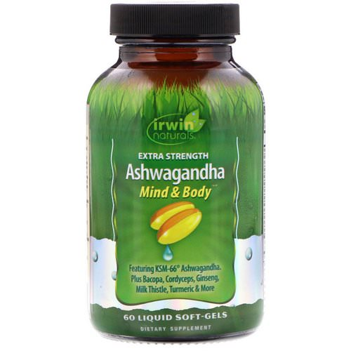 Irwin Naturals, Extra Strength Ashwagandha, 60 Liquid Soft-Gels Review