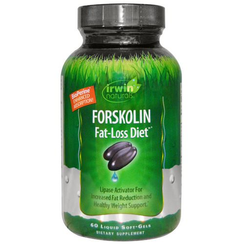 Irwin Naturals, Forskolin, Fat-Loss Diet, 60 Liquid Soft-Gels Review