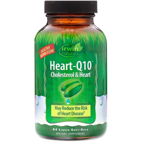 Irwin Naturals, Heart-Q10, Cholesterol & Heart, 84 Liquid Soft-Gels Review